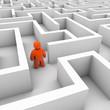Mensch im Labyrinth