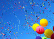 multicolored balloons and confetti - 45842645