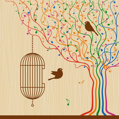 Birdcage On The Musical Tree © Oleg Iatsun