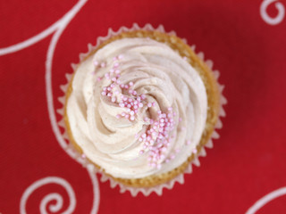 cupcake seen from above