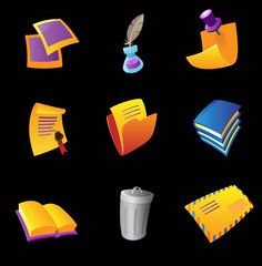 Icons for stationery