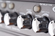 controls of a guitar amplifier, making macro
