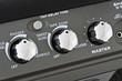 controls of a guitar amplifier, making macro
