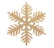 Gold snowflake isolated on white background