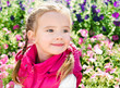 Outdoor portrait of cute little girl