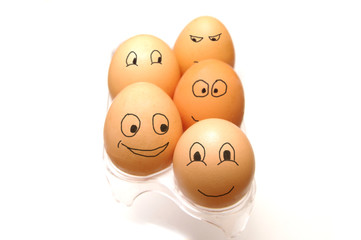 Funny eggs collection
