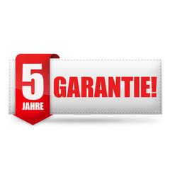5 Jahre Garantie! Button, Icon