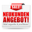 Neukundenangebot! Button, Icon
