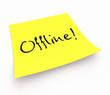 Notizzettel - Offline!