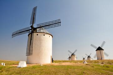 Molinos de viento en Campo de Criptana (España)
