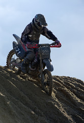 Motorcycle offroad rider