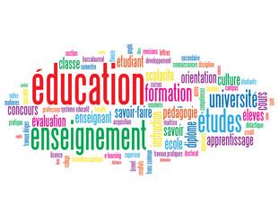 """Nuage de Tags """"EDUCATION"""" (études enseignement formation cours)"""