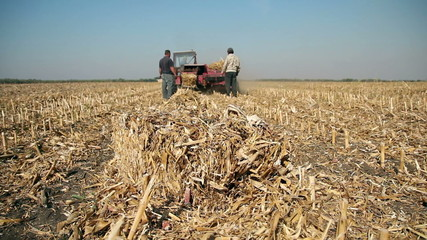 Farmer Making Straw Bales