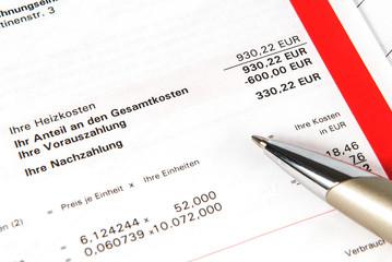 Heizkosten - Heizkostenabrechnung