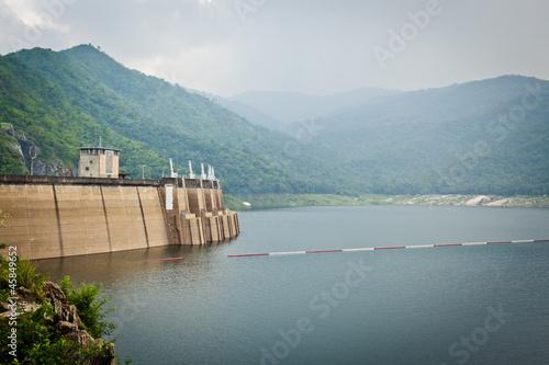 Big area for keep water on Bhumibol dam, Thailand - 45849652