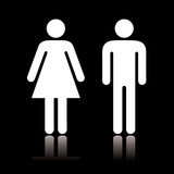 Toilet icon negative