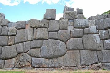 Vista de la fortaleza de Sacsayhuaman. Peru
