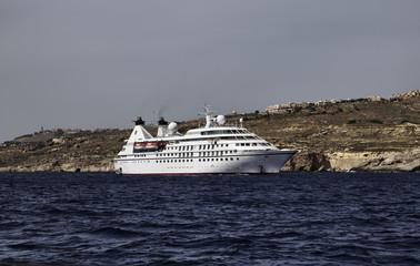 Malta Island, Gozo, cruise ship