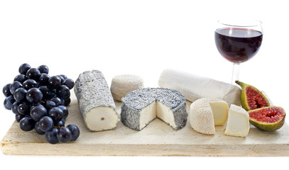 goat cheeses and fruits
