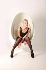 Fotoshooting mit extravagantem Stuhl