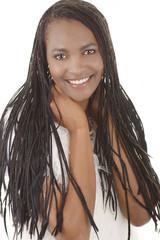 Hübsche afrikanische Frau