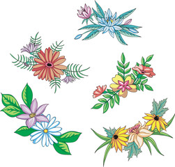 Miscellaneous flowers for ornaments