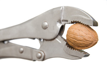 Steel Wrench Cracking A Walnut