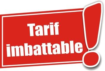 étiquette tarif imbattable