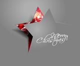 vector peel off star christmas
