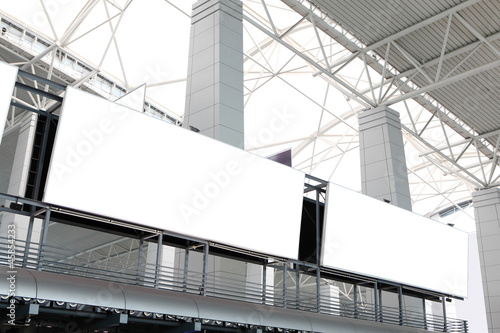two huge Blank Billboard in airport