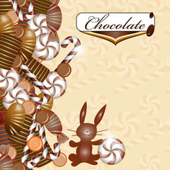 Background with chocolate candy