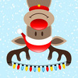 Reindeer Head First Chain Of Lights Winter Forest