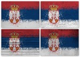 Serbia flag collage