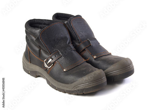 A pair of safety boots