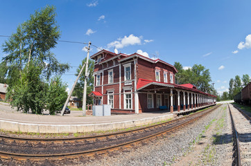 Old Provincial Railway Station in Russia