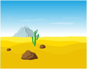 desert sand landscape, vector illustration