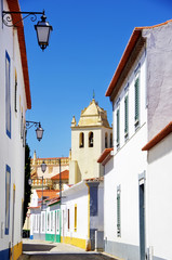 Quiet street in Alvito village, Alentejo, Portugal