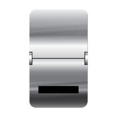 Silver flipboard letter - departure board - underscore