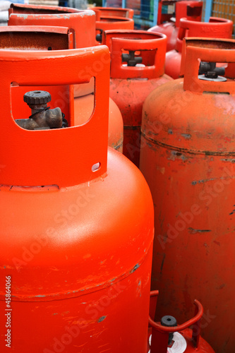 Domestic propane gas bottle