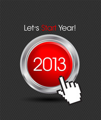 Happy New Year 2013 Button