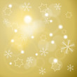 Winter background with stars and snowflakes