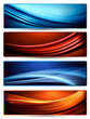 Set of colorful abstract business banners. Vector