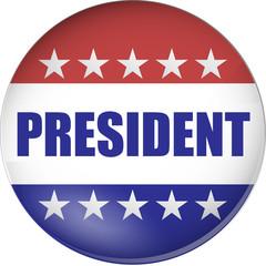 president badge