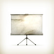 Blank Projection screen, old-style