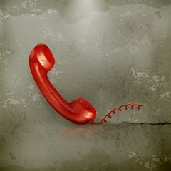 Red Handset, old-style