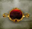 Vintage frame red, old-style