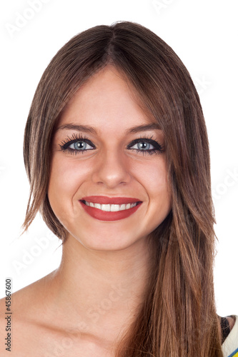 Portrait of a Sexy Young Casual Woman