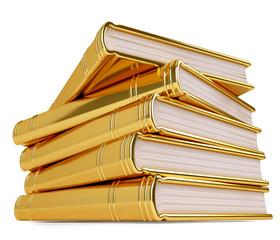 Golden Stack of Books