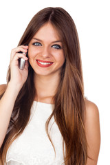 Young Pretty Woman Using a Mobile Phone