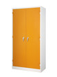Tall cabinet steel office furniture isolated